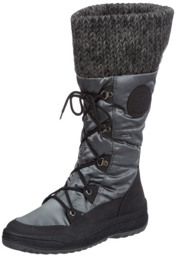 ara St-Anton-Gore-Tex 03-49777-64 Damen Snowboots Grau (nero,grey/schwarz)