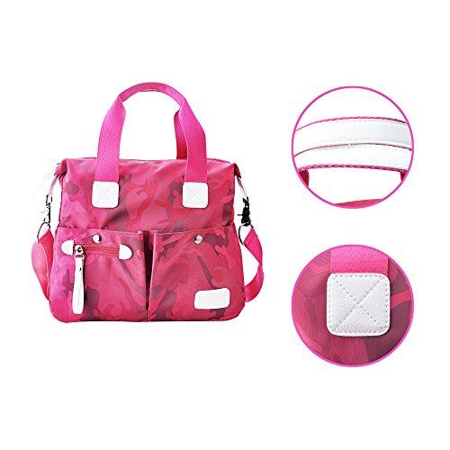 2017 neue Damen Schultertasche Nylon Tasche Handtasche Oxford Tuch Freizeit Tasche wasserdichte Tasche Rose Red