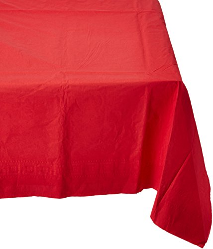 amscan Apple Red Papier Tischdecke 137 cm x 274 cm