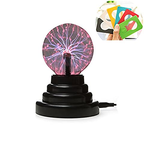 Woolala Plasma Light Static Ball Ion Magical Touch Light Magic Lightning Bolt 2 Charge Modes Night Light for Kids, Bedroom, Home Decor or Holiday Gift