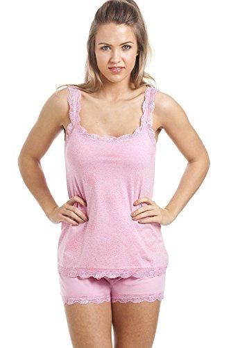 Damen Schlafanzug - Verschiedene fröhliche Designs 36/38 Pink Sparkle
