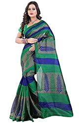 Glory Sarees Women's Bhagalpuri Art Silk Cotton Sarees(saree8_green)