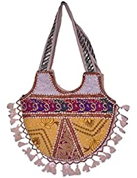 Gaurapakhi Rajasthani Collection And Ethnic Cotton Handmade Handbag With Multicolor For Women's - B07D7GVRTT