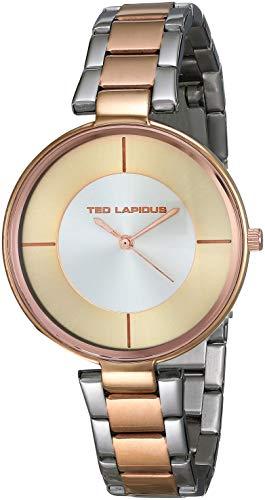 Ted Lapidus Femme Montre avec Bracelet en Cuir A0705PNFIN