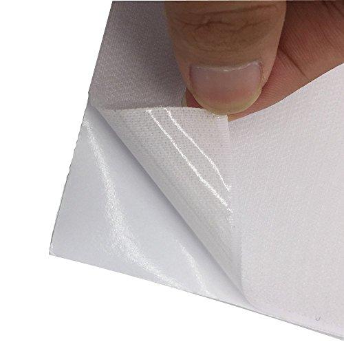 Arlent 100 mm breit 1 Meter lang Selbstklebende Haken Loop Streifen Set mit Sekundenkleber wieder Klettverschluss Nylon Stil Stoff Verschluss Magic Tape weiß