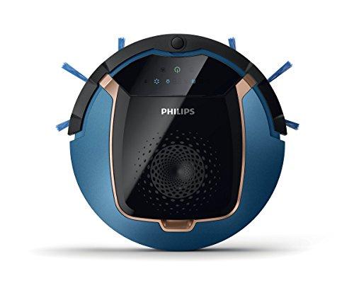 Philips Smart Pro Active FC8812/01 Robotersauger (0,4 Liter, kupfer) blau/schwarz