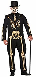 Forum Novelties 78254esqueleto disfraz de formal, pecho tamaño 42-44-inch