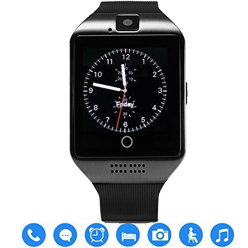 TagoBee TB02 Bluetooth Smart Uhr mit SIM-Kartensteckplatz Kamera HD Screen Touch-Unterstützung Whatsapp Facebook Benachrichtigung Kompatibel mit Allen Android-Handys und iPhone (Teilfunktion) schwarz