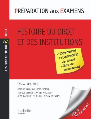 Préparation aux examens - Histoire du droit et des institutions