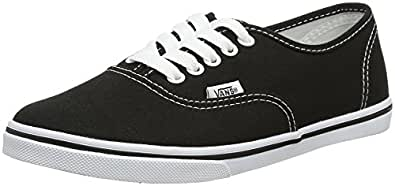 Vans AUTHENTIC LO PRO Unisex-Erwachsene Sneakers, Schwarz (Black/True White), 34.5 EU