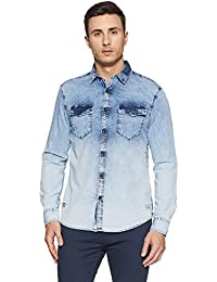 Ed Hardy Men's Solid Regular Fit Casual Shirt