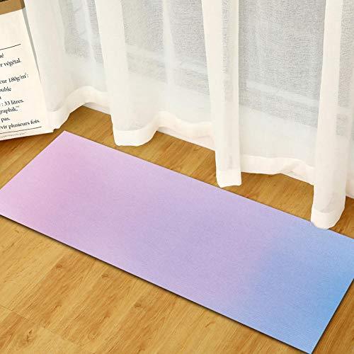 rutschfeste Slip,Läufer Teppiche Für Wäscherei Zimmer Schlafzimmer Küche Wohnzimmer Diele,Modernes Drucken Polyester,Maschinenwäsche Lange Teppiche,Minimalistischen Farbverlauf Blau Bis Violett - 72 Läufer 24 Teppich