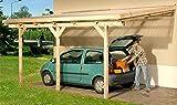 Anlehncarport Carport EIFEL III 300x500 cm Bausatz + Dacheindeckung, Anlehn Carport