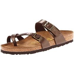 Birkenstock Mayari, Zapatillas de Estar por casa con talón Abierto para Mujer, Marrón Graceful Toffee, 40 EU
