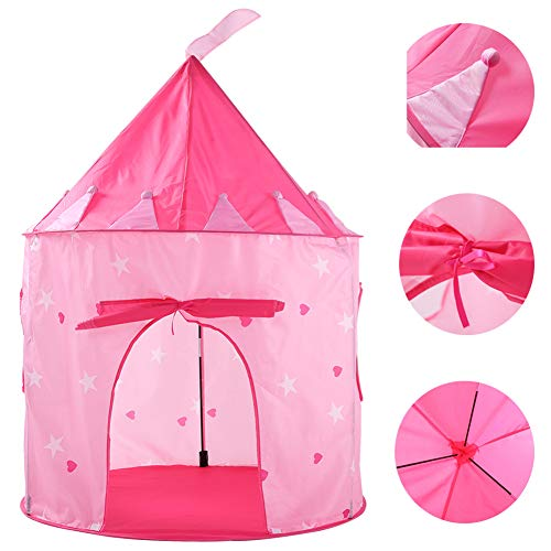 ACOMDSS Tipi Zelt für Kinder Spielzelt - Zelt sternenklar rosa Jurte Baby Spielzeug Spielhaus Interieur Cartoon Prinzessin