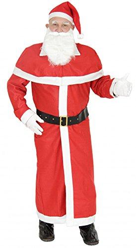 Foxxeo 4-teilig Weihnachtsmann Kostüm mit Mantel Weihnachtsmannkostüm Größe: ()