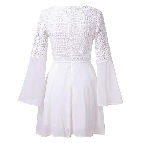 69d88faf7cf4d Amlaiworld Damen Locker Strand Mini Kleid Sport Gemütlich Outdoor Dress  Freizeit V-Ausschnitt