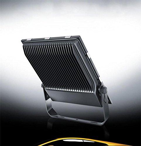 Lh&Fh 100W Scheinwerfer Grau Diecast Aluminium Körper Warm Weiß (3000k) Wasserdichte Outdoor Beleuchtung Street Lights Werbung Lampe -