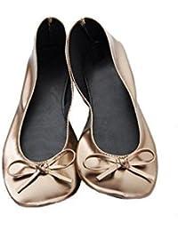 Ballerina2go - Pantoufles Maison Femme, Blanc, Taille 40/41 Eu