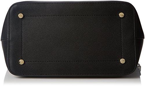 Trussardi Jeans Damen Levanto Schultertasche, 41x29x20 cm Schwarz (Nero)
