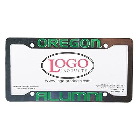 Oregon Ducks Alumni Chrome Plastic License Plate Frame by Logo Products