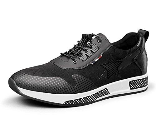 MUYII Herren Oxfords Lederschuhe Für Männer Plain Toe Schuhe Casual Sport Mens Bequeme Schuhe,Black-EU38 Oxford-sport-schuhe