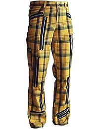 Tartan Street Style Zip Hose Gelb