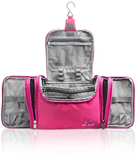 TRAVANDO  XXL borsa della toilette signore grandi da appendere 'Maxi' | 8,8 volume litro | borsa cosmetica con molti scomparti | borsa della toilette | beauty case borsa della toilette grande | borsa