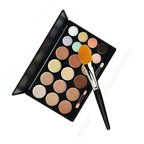 Reixus(TM) 20 couleurs Contour Professional Palette correctrice femmes contournage Maquillage cosm¨¦tique Cr¨¨me de soin du visage avec la Fondation Brosse [1]