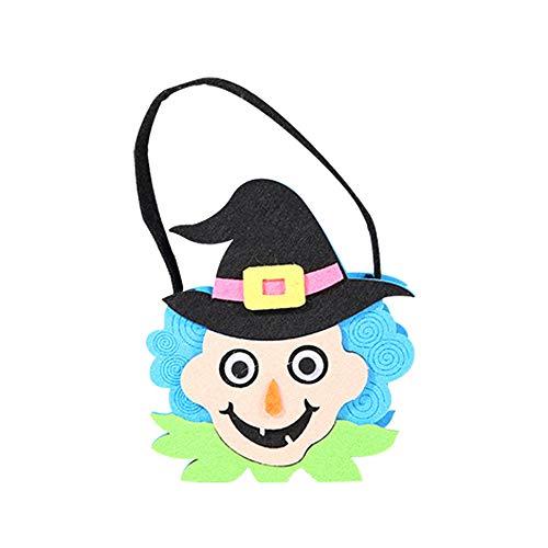 VEMOW Heißer Halloween Party Nette Hexen Candy Bag Verpackung Kinder Party Aufbewahrungstasche Geschenk(Mehrfarbig B, 22 * 18cm)
