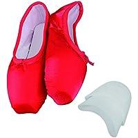 TXJ Donne Scarpe per Danza Classica Raso Pacchetto di 1
