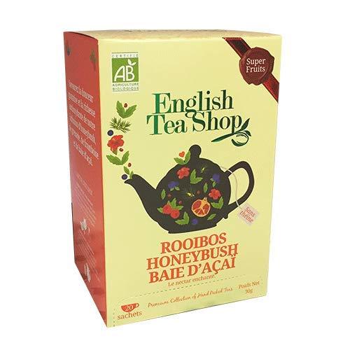 Englisch Tea Shop Honeybush Acai Berry Punsch Bio Natürlich Koffeinfrei - 1 x 20 Sachets (30 Gram)