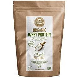 Organic Whey Protein - Naturel - 80% de Protéines - Protéine de Lactosérum Bio Certifié - Sans Additifs - 500 g