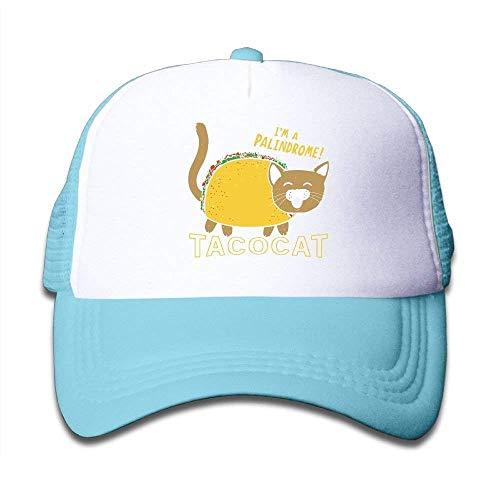 Mathe-cap (Xukmefat Tacocat Cute Funny Mesh Baseball Cap Kid Boys Girls Adjustable Golf Trucker Hat XFG5034)