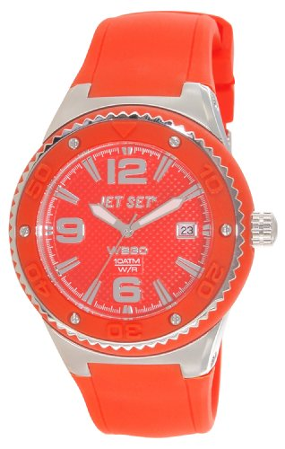 Jet Set – J53454-969 Wb30 Ladies Watch – Analogue Quartz – Orange Dial Orange Rubber Strap
