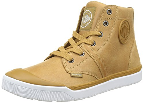 Palladium Palaru Hi Lea H, Baskets Hautes Homme Jaune (E24 Warmed/White)