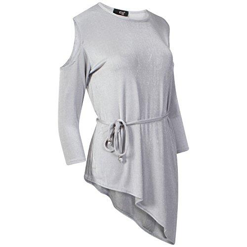 Get The Trend - Robe - Tunique - Manches Courtes - Femme noir noir Gris