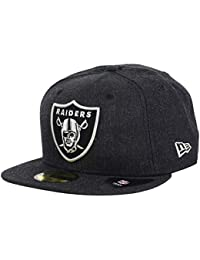 New Era Oakland Raiders Heather Black NFL cap 59fifty 5950 Fitted Men  Basecap ef00ffbfd7af