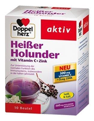 Doppelherz Heisser Holunder mit Vitamin C +Zink Gr 10 stk