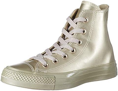Converse Unisex-Erwachsene Chuck Taylor All Star Hohe Sneaker, Gold (Light Gold/Light Gold), 38 EU (Chuck Taylor Metallic Lo Top)