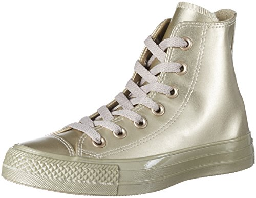Conversechuck Taylor All Star - Zapatillas Altas Unisex Adulto, Color Dorado, Talla 38 EU