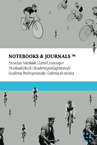 Musician Notebooks & Journals, Bicycles (Vintage Collection), Pocket: Soft Cover (4 x 6)(Blank Sheet Music, Music Manuscript Paper, Staff Paper)