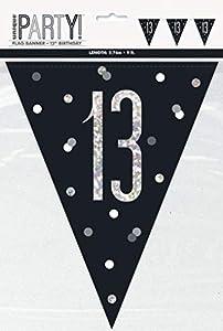 Unique Party- Bandera, Color black & silver (83422)