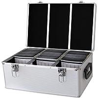 DynaSun 510-er CD/DVD/Blu-Ray Dj Pro Koffer Alu Box mit Hüllen Und Schloss schwarz