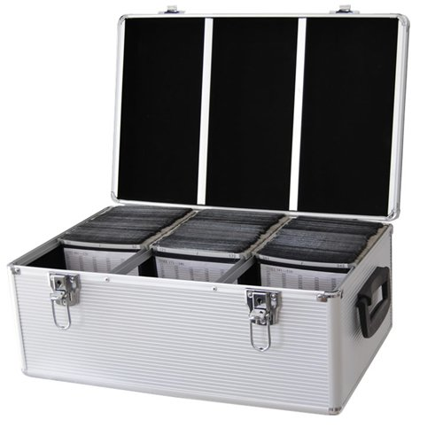 Preisvergleich Produktbild DynaSun 510-er CD/DVD/Blu-Ray Dj Pro Koffer Alu Box mit Hüllen Und Schloss schwarz