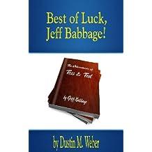 Best of Luck, Jeff Babbage!