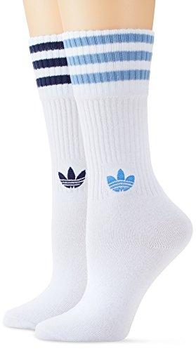 adidas Herren Solid Crew Socken, 2er Pack, Weiß (White/Collegiate Navy/Ash Blue), 43-46 (Adidas Crew Socken)