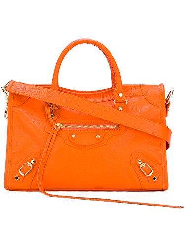 balenciaga-femme-431621dy6jg7560-orange-cuir-sac-porte-epaule