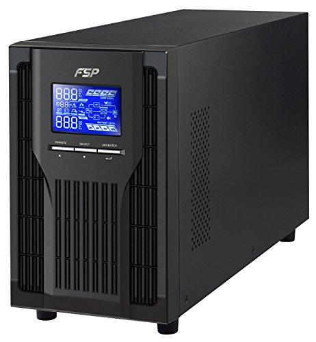 FSP PPF16A1905 Fortron Champ Tower 2k, echte Doppelwandler Online-USV,2000 VA/1800W, 200 bis 300VAC, mit USB, RS-232 und intelligenten Steckplatz für zusätzliche Schnittstellen Schwarz -