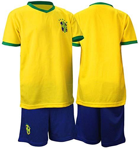 Avento Fußball Sport Fan Trikot Set Shirt Hose Brasilien Gr.104 (Hose Brasilien Fussball)